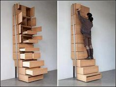 wardrobe stairs to get easily the top shelves