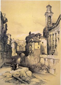 La Carrera del Darro by David Roberts