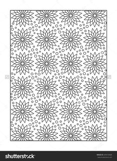 Pattern Coloring Page For Adults Children Ok Too With Whimsical Stars Or