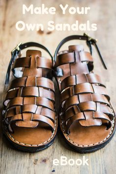 How To Make Leather Sandals - eBook | Craftsy