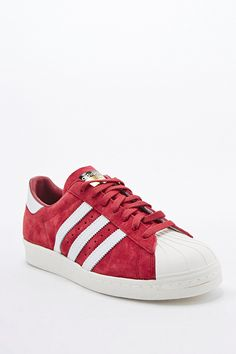 info for f8cce 1d31c Adidas - Baskets Superstar 80s Deluxe en daim bordeaux - Urban Outfitters  Superstar 80s, Adidas