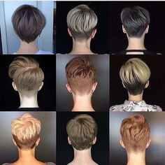 Today we have the most stylish 86 Cute Short Pixie Haircuts. We claim that you have never seen such elegant and eye-catching short hairstyles before. Pixie haircut, of course, offers a lot of options for the hair of the ladies'… Continue Reading → Short Hair Cuts For Women, Short Hairstyles For Women, Hairstyles Haircuts, Back Of Short Hair, Short Hair For Round Face Plus Size, Cropped Hairstyles, Edgy Pixie Hairstyles, Undercut Hairstyles Women, Short Neck