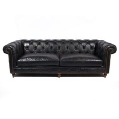 FREE SHIPPING! Shop Austin Furniture Warehouse for the Chesterfield Sofa, Genuine Antique Black Leather - Designer Furniture at warehouse outlet prices!