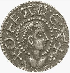 Saxon coin depicting King Offa of Mercia