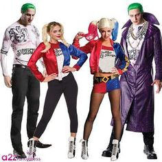#Suicide squad mens the joker #ladies harley #quinn dc adult fancy dress costume,  View more on the LINK: http://www.zeppy.io/product/gb/2/122071114555/