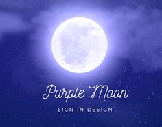 "Check out new work on my @Behance portfolio: ""Purple Moon 