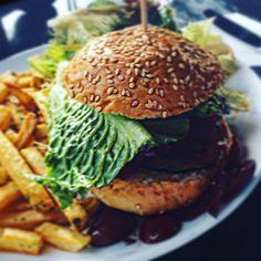 Yassss! Vegan Burger  The patty is made out of beetroot #veganfood #vegan #vegansofig #vegansofinstagram #vegandinner #veganfoodshare #veggies #veggieburger #burger #plantbased #crueltyfree #junkfood #veganjunkfood #foodblogger #foodphotography #foodstagram #fooddiary #foodpic #foodlover #eating #dinner #hongkong #travel #travelfood #travelgram #wanderlust #potd #bestoftheday