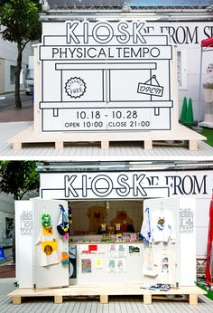 Great pop-up shop layout