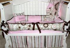 Custom crib bedding Brooklyn set by BabiesNBaubles on Etsy, $445.00 www.babiesnbaublesboutique.com www.etsy.com/shop/babiesnbaubles