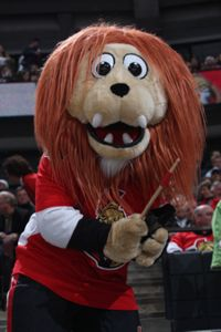 Spartacat, the best mascot in the NHL.