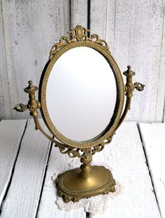 Ornate Antique French Baroque Mirror and by shabbyfrenchvintage