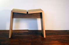 Oak and Walnut Adjacent stool Sawn Studio