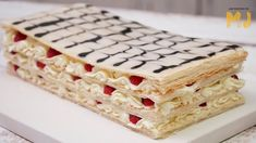 UN PASTEL MILHOJAS PARA ENAMORAR | Siguiendo la receta de Mis Pastelitos Milhojas Cake, Krispie Treats, Rice Krispies, Vanilla Cake, Cake Recipes, Sweets, Bread, Mj, Desserts