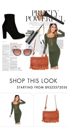 """""""The City Girl"""" by amiclubwear on Polyvore featuring fringe, booties, sunglasses, Trendy and amiclubwear"""