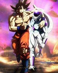 Goku and Frieza Dragon Ball Gt, Dragon Ball Image, Goku E Vegeta, Son Goku, Lord Frieza, Dragon Manga, Dragonball Super, Akira, Majin