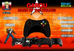 GAROU : Mark of the Wolves MFi Controls
