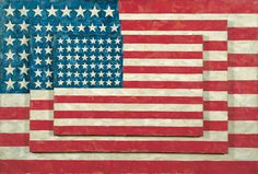 Jasper Johns · Three Flags · 1958 · Encaustic on canvas · 30 7/8 in x 45 1/2 in · Whitney Museum of American Art · New York
