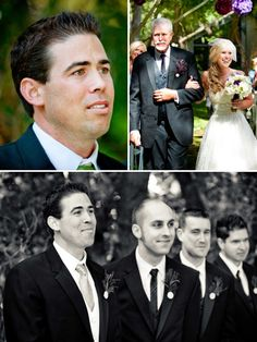 The groom's face when his bride was walking down the aisle. ---I need this picture taken on our day!