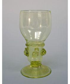 Glazen roemer / noppenglas, 18e eeuw