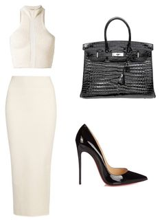Taipei by theblondesandwich on Polyvore featuring polyvore fashion style Yeezy by Kanye West Christian Louboutin Hermès clothing
