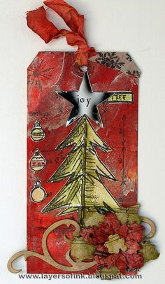 Layers of ink: 12 tags of 2012 December + pop-up card