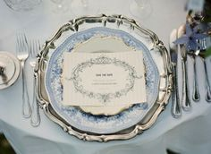 Dusk Blue | A Southern Tradition  wedding for more great ideas visit www.thepartyguide.co.uk
