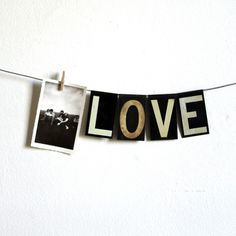 vintage medium black metal hanging letters by lacklusterco on Etsy
