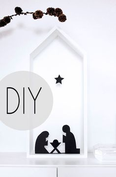 oh what a room:super flottes DIY: eine Krippe für Puristen - oh what a room Very Merry Christmas, Winter Christmas, Christmas Time, Christmas Crafts, Christmas Decorations, Natural Christmas, Deco Table, Diy For Kids, Diy And Crafts