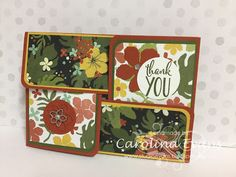 Carolina Evans - Stampin' Up! Demonstrator, Melbourne Australia: Quarter Fold Card in NEW Botanical Gardens DSP
