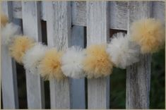 We are absolutely excited to share these tulle wedding decorations. Decorating with tulle is such a fabulous idea. Tulle decorations are gre. Tulle Pompoms, Tulle Garland, Pom Pom Garland, Tulle Balls, Tulle Backdrop, Tulle Flowers, Tulle Tutu, Tulle Wedding Decorations, Tent Decorations