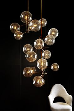 "Contemporary, metro chic ""Bubble"" Lighting 