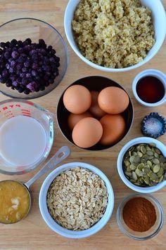 Quinoa Breakfast Bar Ingredients