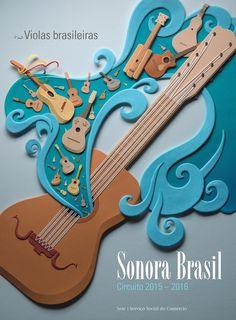 Sonora Brasil - esculturas de papel en Behance