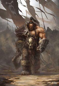 Art Warcraft, Warcraft Movie, Fantasy Books, Fantasy Characters, Grommash Hellscream, Grom Hellscream, World Of Warcraft Wallpaper, Character Art, Character Design