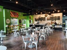 Grabbagreen Food and Juice is now open at CityScape in Downtown Phoenix Downtown Phoenix, Juice, Restaurant, Elevator, Table, Furniture, Food, Home Decor, Decoration Home