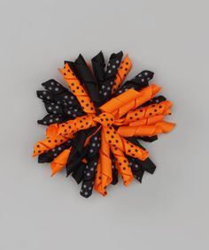 Take a look at this Orange & BlackKorker Bow by Miss Fancy Pants on # ...