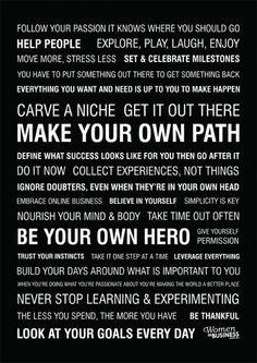 Make your own path. tumblr_lpa29aOFHf1qckw8vo1_500