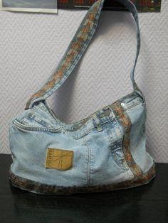 сумка из джинсов, автор Уткина Наталья, октябрь 2012