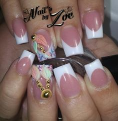 Pink and white with simple 3d design