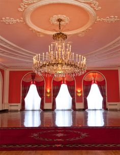 The Greenbrier's Cameo Ballroom Chandelier.  This room is very popular for weddings!  http://www.greenbrier.com