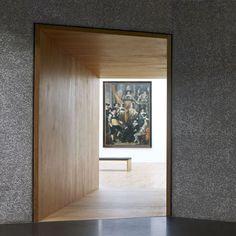 Beautiful frame inside the Villa Vauban extension by Philippe Schmit.