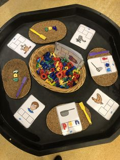 Find the correct sounds using the magnets and magnetic letters Activity Based Learning, Learning Phonics, Play Based Learning, Letter Sound Activities, Kindergarten Activities, Writing Activities, Eyfs Classroom, Special Education Classroom, Literacy And Numeracy
