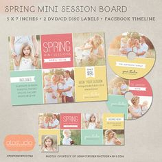 Mini Session Photography Marketing board  Spring von OtoStudio