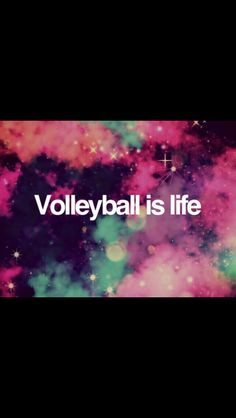Comment on how much you love volleyball