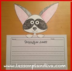 Skippyjon Jones Writing Activity and Page Topper- to go with Kohls Cares for Kids books and characters