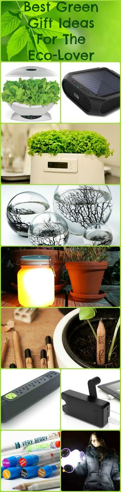 Best Green Gift Ideas For The Eco-Lover #rethink #reuse #recycle #eco #smartthinking #smartlife #green #gift #idea #home #craft #gardening