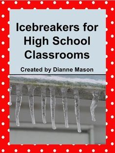 A document file with Ice Breakers. This would be great to use the first few days of school to get students to know each other and get them to be comfortable with one another, High School Counseling, High School Classroom, School Counselor, High School Students, Icebreakers High School, College Students, Classroom Ideas, Superhero Classroom, Ela Classroom