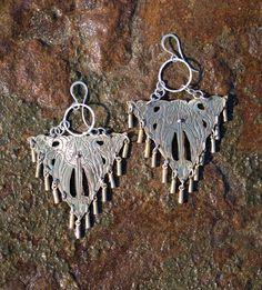 Seraphin Beaded Brass Drop Earrings