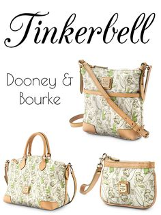 I have the one on the top and I love love it! Limited Edition Tinkerbell Dooney & Bourke Bags // Inspired By Disney. Disney Handbags, Disney Purse, Disney Dooney, Mk Handbags, Purses And Handbags, Leather Handbags, Ladies Handbags, Blue Handbags, Womens Purses