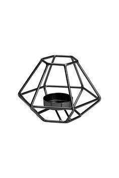 Metal Tea Light Holder | Black | H&M HOME | H&M US